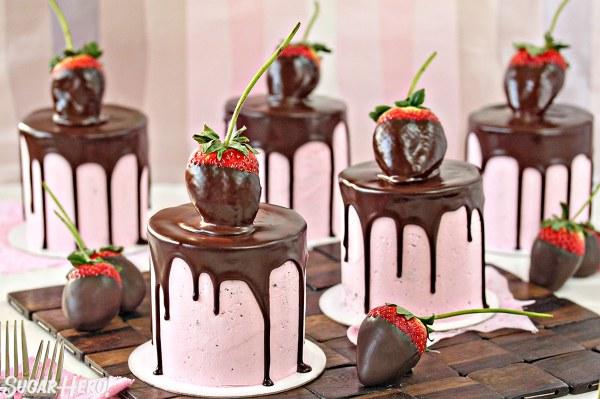 Chocolate Brownies Pink Glitter