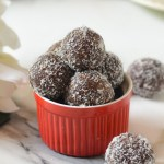 "Chocolate Walnut and Coconut ""Ladoos"""