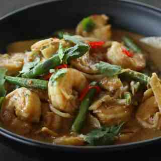 Penang Curry with Prawns
