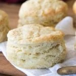flaky biscuit on white cloth