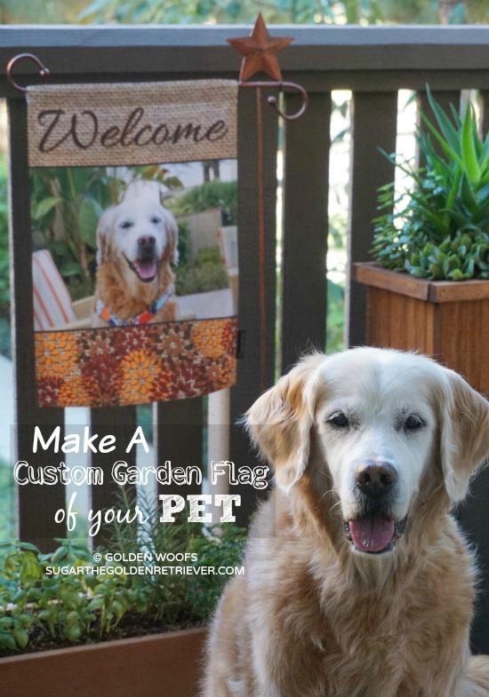 Make A Custom Garden Flag Of Your Pet At Flagology Sugar The Golden Retriever