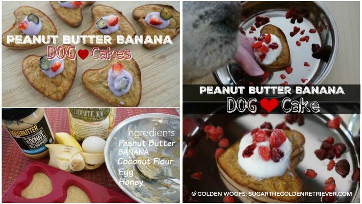 Peanut Butter Banana Dog Cakes