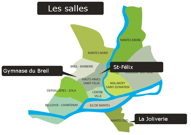 plan quatiers de Nantes