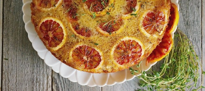 Blood Orange Brûlée Upside Down Cake