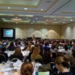 600 People Up at 7am to hear Laurie Halse Anderson Speak