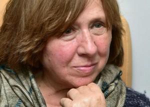 A escritora Svetlana Alexievich, Prêmio Nobel de 2015