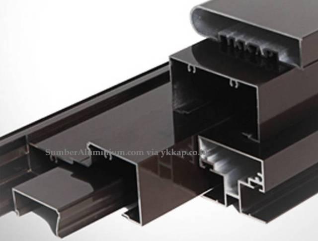 Profil Kusen Aluminium YKK coklat Kilap