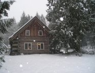 Winter in a cabin
