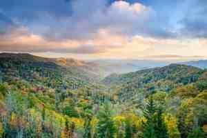 Smoky Mountains National Park, Tennessee, USA autumn landscape.