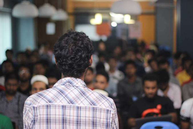 Sumon Selim speaking at A Day with PHP