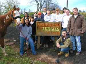Electrical Systems Technology class of 2012 wired electricity to the barns at Ashburns Animals on a Mission.