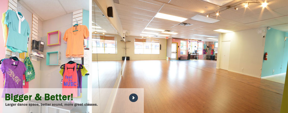 More room to dance and more fun classes!