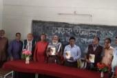 তালায় 'শিমুল পলাশ' কাব্যগ্রন্থের মোড়ক উন্মোচন