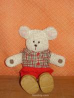 Sitting Bear in shoes - SOLD