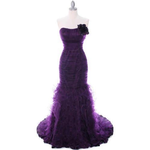 Medium Crop Of Purple Lace Dress