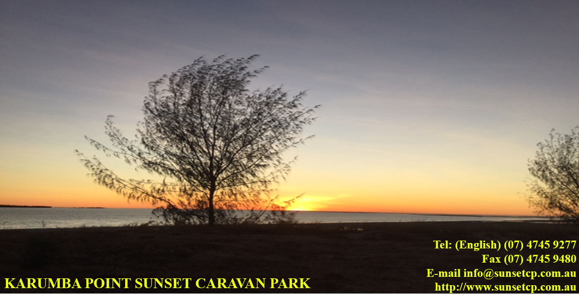 Sunset View Karumba Point Sunset Caravan Park Accommodation Cabins Hotels Fishing Birds Online Booking