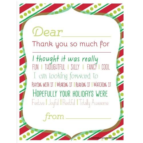 Medium Crop Of Christmas Thank You Cards