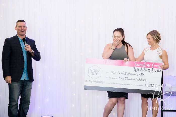 Katherine won $5000 from It's My Wedding to spend with any exhibitors at the Sunshine Coast Wedding Expo