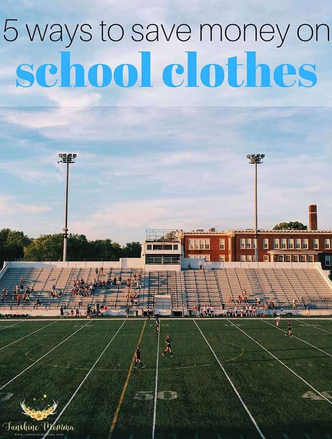 5 Ways to Save Money on School Clothes This Year