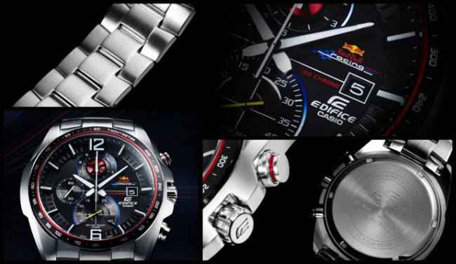 Casio EDIFICE X Infiniti Red Bull Race Limited Edition Watch - Stainless Steel Band