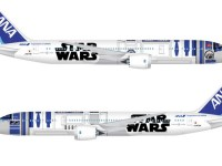 ANA Boeing 787-9 Dreamliner with Star Wars R2-D2 livery