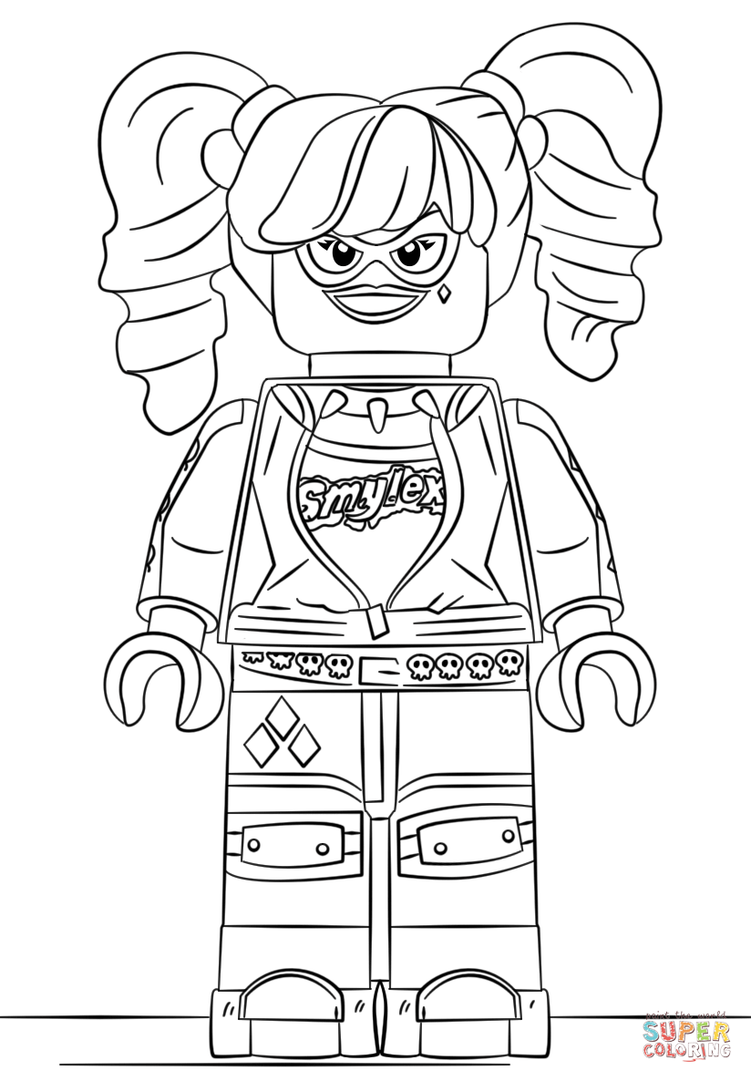 i click the lego harley quinn coloring pages to view printable version or color it online compatible with ipad and android tablets