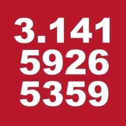 PI mathematical red