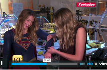Entertainment Tonight presenter feeling Supergirl Melissa Benoists costume