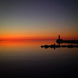 Duluth Entry sunrise over Lake Superior