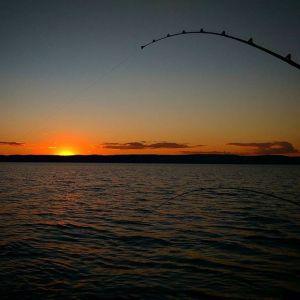 Sunset Charter Fishing on Lake Superior
