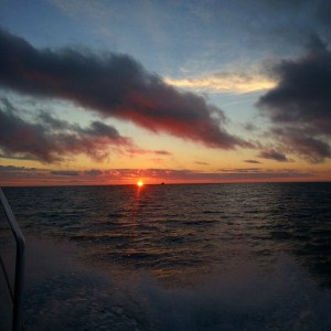 Sunrise heading out to fishing grounds
