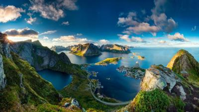 Reinebringen Norway - Stunning landscape Wallpaper Download 5120x2880