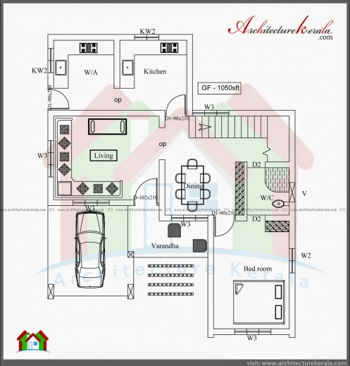 Awesome House Plans Kerala 3 Bedrooms Arts Bedroom Pic