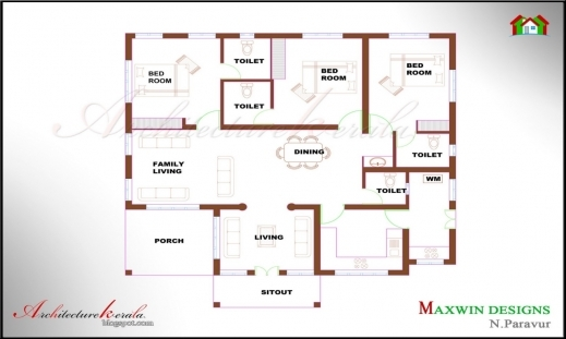 Best 3 Bedroom House Plans In Kerala Single Floor Arts Photo