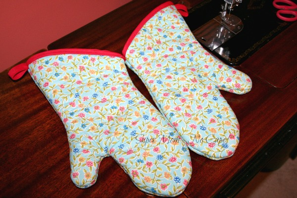 Newly recovered oven mitts