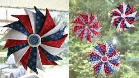 Trio of Patriotic Prairie Point Star Ornament