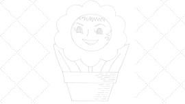 Vintage Workbasket - Embroidery Pattern - Happy Flowering Plant