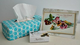 Reversible Tissue Box Cover made with Round Elements by Art Gallery Fabrics