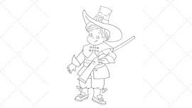 Vintage Workbasket - Embroidery Pattern - Early American Pilgrim