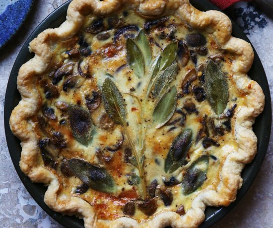 Mushroom and Sage Quiche - Supper with Michelle
