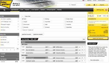 New York Rangers @ Interwetten Bookmaker