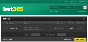 Bars @ Bet365 Bookmaker