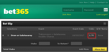 Galatasaray @ Bet365 Bookmaker