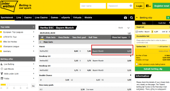 Bayern Munich @ Interwetten Bookmaker