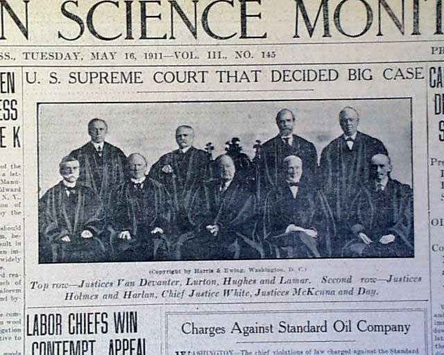 Standard Oil Co. of New Jersey v. United States (1911)