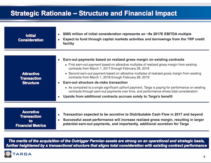 TRGP Strategic Rationale - Structure and Financial Impact