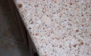 Before: Cream Colored Blotch on a Quartz Countertop