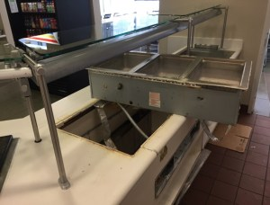 Before - ProLogis: Buffet Countertops were Separated and Dull