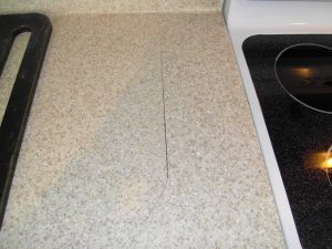Silicone Caulk Replacement Countertop-Repair Surface Link Before