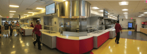 Before: An overall view of the Wentworth Institute of Technology Cafeteria